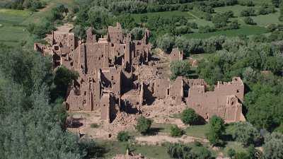 Ruines dans la vallée du Dadès