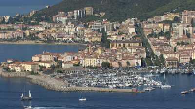 Le site et la ville d'Ajaccio, château La Punta