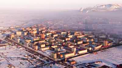 A l'extrême nord de la Sibérie, la ville industrielle de 170 000 habitants