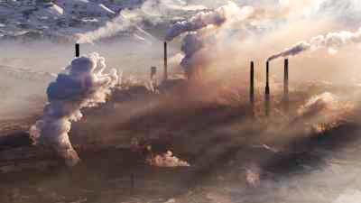 Beauté graphique de la pollution extrême