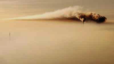Fumées d'usines au dessus de la ville