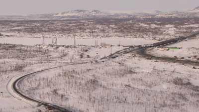 Le train qui relie Norilsk à Doudinka