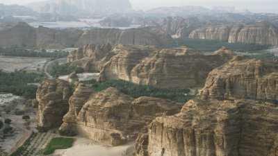 Zone agricole au milieu du désert