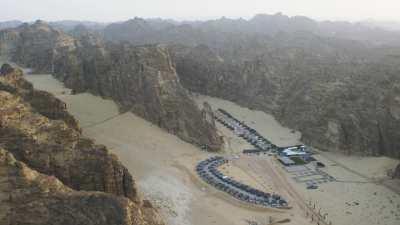 Au milieu d'un paysage magnifique, le Sahary AlUla Resort