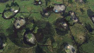 Un village lacustre près de Bor