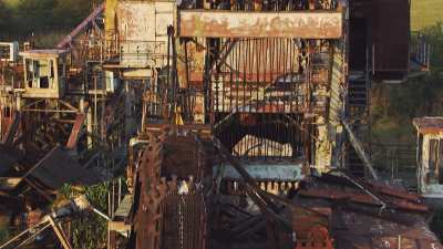 L'excavatrice abandonnée du Canal de Jonglei