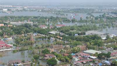 Dommages causés aux vestiges historiques inondés