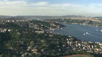 Vues sur le Bosphore et la ville d'Istanbul