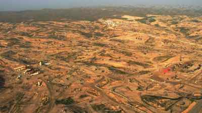 Extraction de pétrole à perte de vue