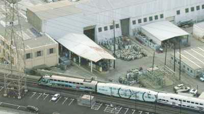 Train et tours du centre ville