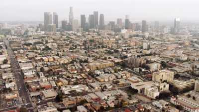Approche de Los Angeles et survol de la ville