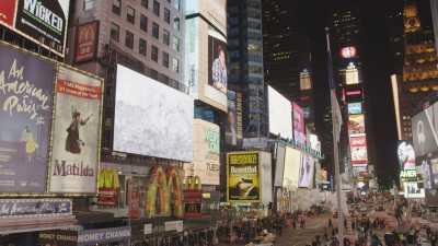 Images au sol de Times Square