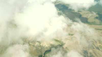 Plan large de plaine et mont Roraima